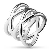 Dámský proplétaný ocelový prsten