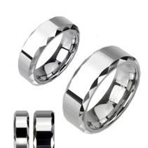 Dámský prsten wolfram, šíře 6 mm