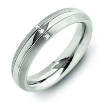 Dámský titanový snubní prsten s diamanty 0131-03