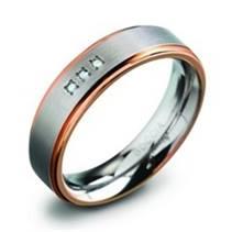 Dámský titanový snubní prsten s diamanty 0134-02