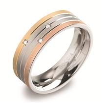 Dámský titanový snubní prsten s diamanty BOCCIA® 0135-02