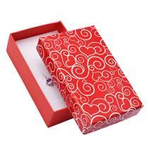 Dárková krabička na soupravu šperků se srdíčkovými ornamenty