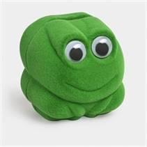 Dárková krabička semiš - žába