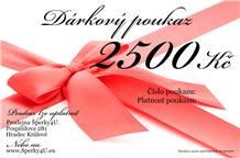 Dárkový poukaz 2500,- Kč