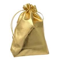 Dárkový sáček zlatý 80 x 120 mm