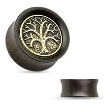 Dřevěný plug do ucha Strom života