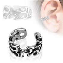 Falešný piercing do ucha - klips s ornamenty