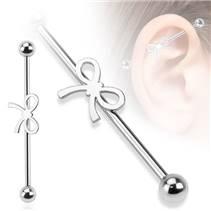 Industrial piercing - mašlička, 1,6 x 38 mm