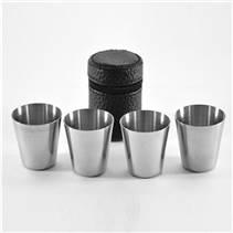 Kapesní nerezový pohárek - kalíšek 30ml - 4ks