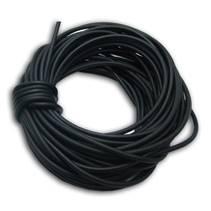 Kaučuková šňůrka kulatá černá, tl. 2 mm