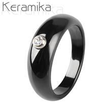 Keramický prsten černý, šíře 7 mm, vel. 52