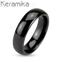 KM1000-6 Dámský keramický prsten, šíře 6 mm