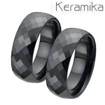 KM1002 Keramické snubní prsteny šíře 8mm - pár