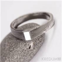 Kovaný Damasteel prsten Glorie