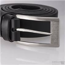 Kožený opasek - kovaná nerezová spona - Partner Gird 3X barva černá
