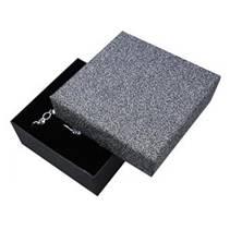 Krabička na soupravu šperků, stříbřitě šedá/černá