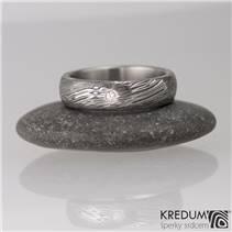 KS1024 Dámský prsten Damasteel Prima diamant 1.7 mm