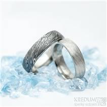 KS1024 Snubní prsteny Damasteel Prima - pár