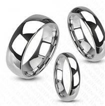 Leštěný prsten wolfram, šíře 6 mm, vel. 65