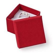 Malá dárková krabička na prsten - červená
