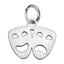 Malý ocelový přívěšek s kroužkem - masky