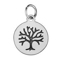 Malý ocelový přívěšek strom života černý