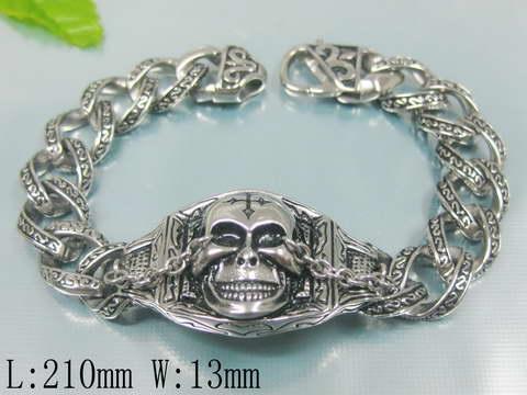 3f6361607 Masivní pánský ocelový náramek - lebka | Šperky4U.eu