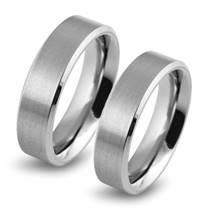 Matné snubní prsteny 0101-01 - pár