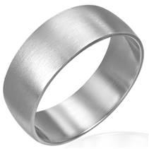 Matný ocelový prsten, šíře 8 mm,