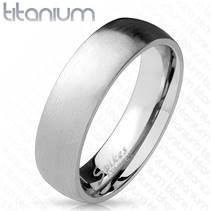 Matný prsten titan, šíře 6 mm
