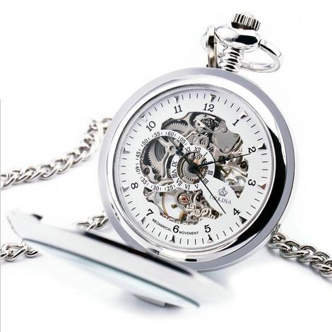 3a7225454 Mechanické kapesní hodinky otevírací - cibule | Šperky4U.eu
