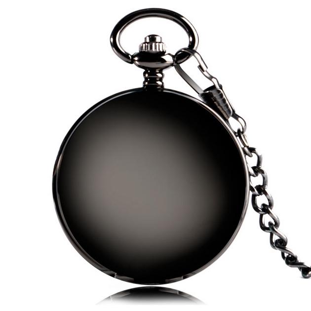 898d31d4b5d Mechanické kapesní hodinky otevírací černé - cibule