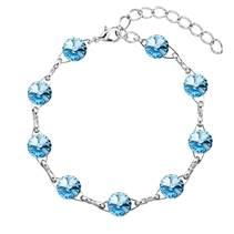 Náramek bižuterie se Swarovski krystaly, Aquamarine