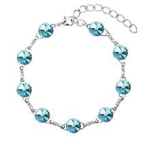 Náramek bižuterie se Swarovski krystaly, Light Turquoise