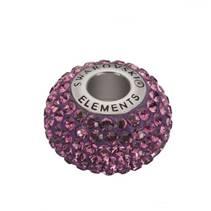 Navlékací přívěšek korálek s krystaly Swarovski®, Amethyst