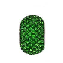 Navlékací přívěšek korálek s krystaly Swarovski®, Dark Moss Green