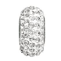 Navlékací přívěšek korálek SLIM s krystaly Swarovski®, CRYSTAL
