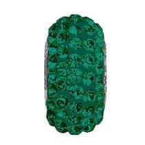 Navlékací přívěšek korálek SLIM s krystaly Swarovski®, EMERALD