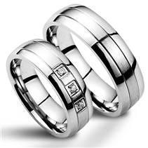NSS1003 Snubní prsteny chirurgická ocel - pár