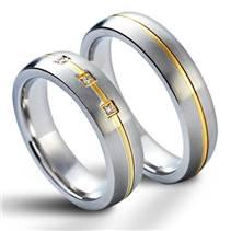 NSS1009 Snubní prsteny chirurgická ocel - pár