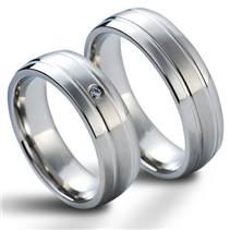 NSS1014 Snubní prsteny chirurgická ocel - pár