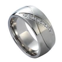 NSS1019 Dámský snubní prsten se zirkony