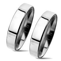 NSS3004 Snubní prsteny chirurgická ocel 4mm - pár