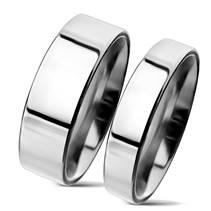 NSS3004 Snubní prsteny chirurgická ocel 6mm +4mm - pár