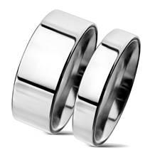 NSS3004 Snubní prsteny chirurgická ocel 8mm +4mm - pár
