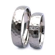 NSS316 Tepaný pánský snubní prsten ocel