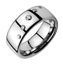 NWF1007 Dámský snubní prsten se zirkony