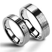 NWF1009-Zr Wolframové snubní prsteny - pár