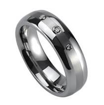 NWF1026 Dámský snubní prsten se 3mi zirkony