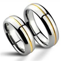 NWF1027-SL Wolframové snubní prsteny - pár